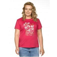 """Джемпер (модель """"футболка"""") женский Pelican XFT9683 малиновая"""