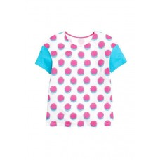 "Джемпер (модель ""футболка"") для девочки Pelican GTR595/1 белый-white"