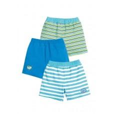 SH(3)427 Шорты детские Pelican, бирюза/бирюза/лазурный-turquoise/turquoise/azure
