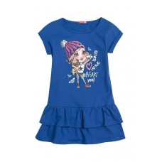 Платье для девочки Pelican GDT3006 синее
