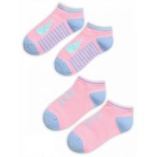 GEGY3159(2) Носки для девочек (2 пар в кор.) Pelican, розовый/розовый