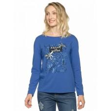 Джемпер женский Pelican DFJ6810 темно-синий