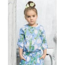 GWCJ3111 Блузка для девочек Pelican, лазурная