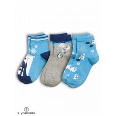 Носки для мальчика Pelican BEG3045(3) голубой/серый/голубой