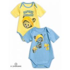 BFOT1168(2) Полукомбинезон для мальчиков Pelican, желтый/голубой