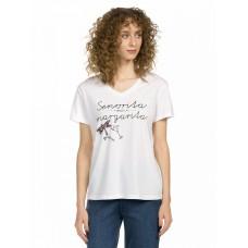 """Джемпер (модель """"футболка"""") женский Pelican DFT6665 белая"""