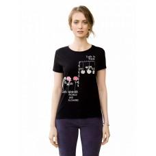 """Джемпер (модель """"футболка"""") женский Pelican DFT6664 черная"""