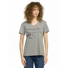 """Джемпер (модель """"футболка"""") женский Pelican DFT6665 серая"""