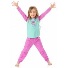 GNJP3002 Пижама для девочек Pelican, лазурная