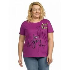 """Джемпер (модель """"футболка"""") женский Pelican XFT9666 фиолетовая"""