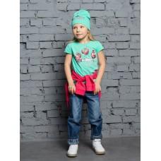 """Джемпер (модель """"футболка"""") для девочки Pelican GFT3110/1 ментол"""