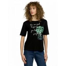 """Джемпер (модель """"футболка"""") женский Pelican DFT6668 черная"""