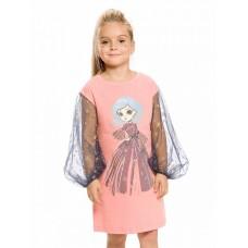 Платье для девочки Pelican GFDJ3154 розовое