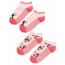 GEGY3157(2) Носки для девочек (2 пар в кор.) Pelican, красный/красный