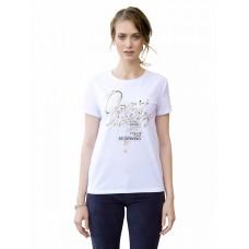 """Джемпер (модель """"футболка"""") женский Pelican DFT6662 белая"""