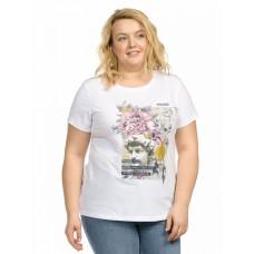 """Джемпер (модель """"футболка"""") женский Pelican XFT9800 белая"""