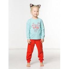 WFAJP3107 Пижама для девочек Pelican, лазурная
