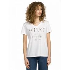 """Джемпер (модель """"футболка"""") женский Pelican DFT6672 белая"""