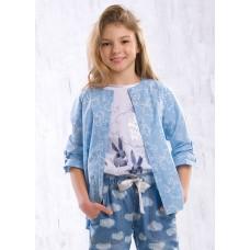 Блузка для девочки Pelican GWCJ4051 голубая