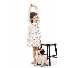 GND3006 Ночная сорочка для девочек Pelican, молочная