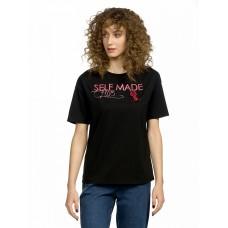 """Джемпер (модель """"футболка"""") женский Pelican DFT6671 черная"""