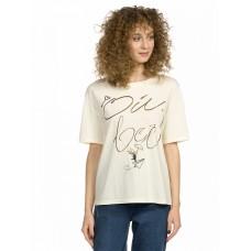 """Джемпер (модель """"футболка"""") женский Pelican DFT6673 молочная"""