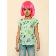 """Джемпер (модель """"футболка"""") для девочки Pelican GFT3108/1 ментол"""
