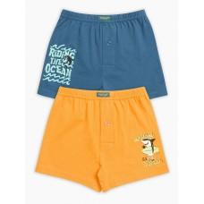 Трусы для мальчика Pelican BUB3100(2) джинс/оранжевый