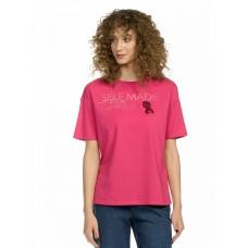 """Джемпер (модель """"футболка"""") женский Pelican DFT6671 малиновая"""