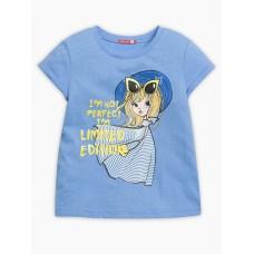 """Джемпер (модель """"футболка"""") для девочки Pelican GFT3111/2 лазурная"""