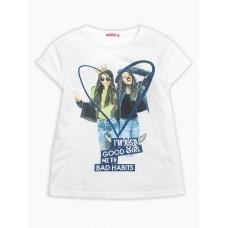 """Джемпер (модель """"футболка"""") для девочки Pelican GFT4111/3 белая"""