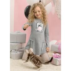 Платье для девочки Pelican GFDJ3077 серое