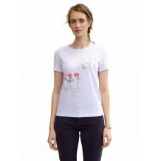 """DFT6664 Джемпер (модель """"футболка"""") женский Pelican, белый"""