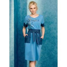 DFDT6738 Платье женское Pelican, голубое