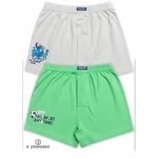 Трусы для мальчика Pelican BUB3056(2) зеленый/серый