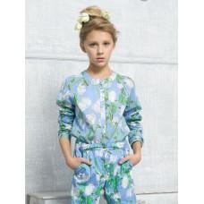 Блузка для девочки Pelican GWCJ4111 лазурная