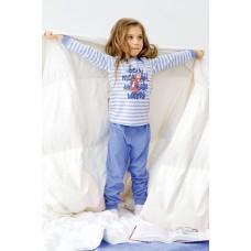 WFAJP3015 Пижама для девочек Pelican, голубая