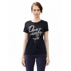 """Джемпер (модель """"футболка"""") женский Pelican DFT6662 черная"""