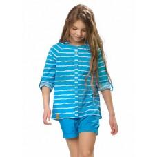 GWCJ4049 Блузка для девочек Pelican, лазурная